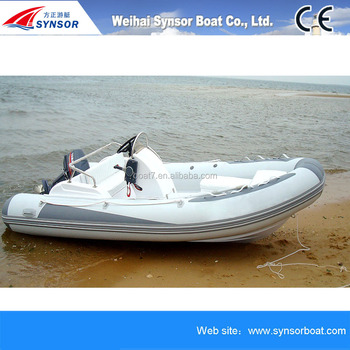 2016 new style made in china resceu boat fishing fiberglass Inflatable boat hulls for sale