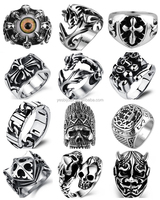 factory bulk sale punk stainless steel rings