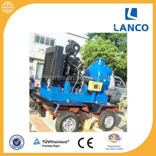 Best Price High Quality Trailer Mounted Diesel Self Priming Pump For Agricultural Spray