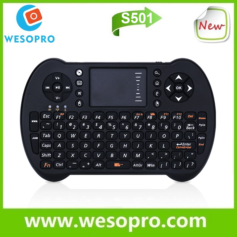WESOPRO 2.4GHz wireless mini keyboard with touchpad model S501