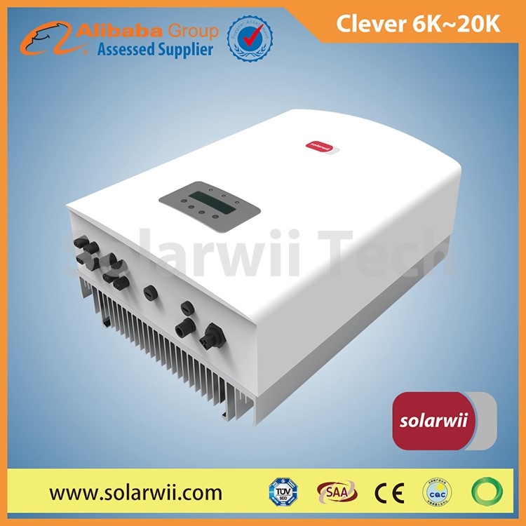 Solarwii high frequency 6kw to 20kw pwm inverter with mppt | grid power inverter