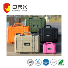 Hard Safety Equipment box Waterproof plastic camera rolling case IP67