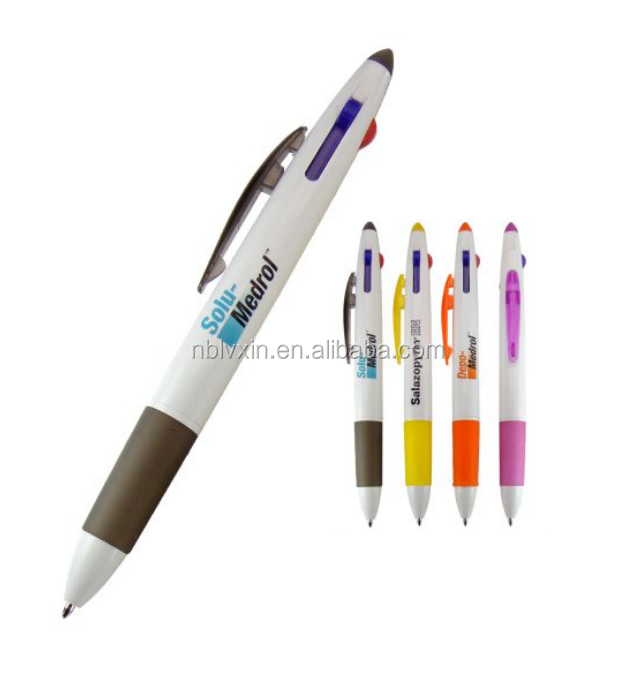 High quality cheap price multicolor ballpoint pen, customized logo automatic ball-point pen