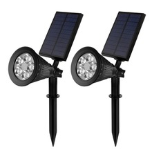 New 2w solar panel outdoor wall mounted ultra bright led solar garden light