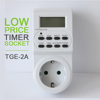 TGE-2A 220-240V 24 Hours Mechanical Timer Socket UK 3 Pin Plug Electrical Energy-saving Programmable Timer Switch