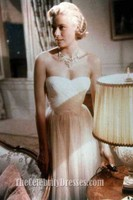 Celebrity Inspired Grace Kelly Catch A Thief Celebrity in Movies Dresses Beautiful White Prom Dress