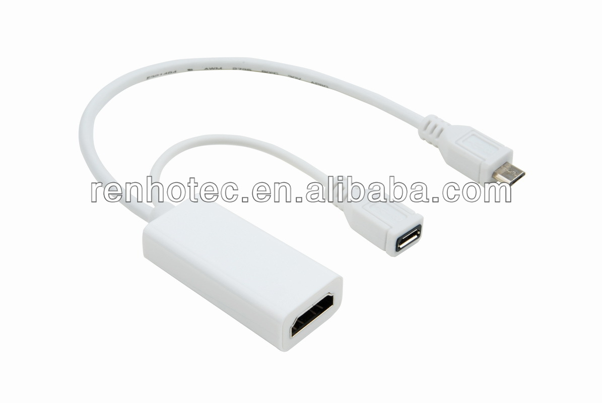 micro USB TO HD MI female MHL adapter cable