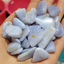 Polished 8~12mm Blue Lace Agate Crystal Tumbled Stones