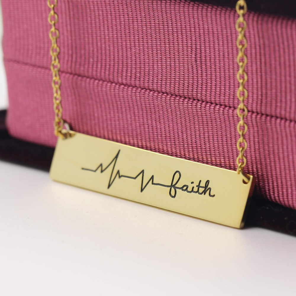Customize character fashion gold necklace with name N1093