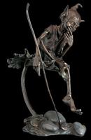 Folk Art Style bronze goblin statue