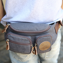 Wholesale designer fashion fancy travel mens canvas fanny pack waist hip bag for men