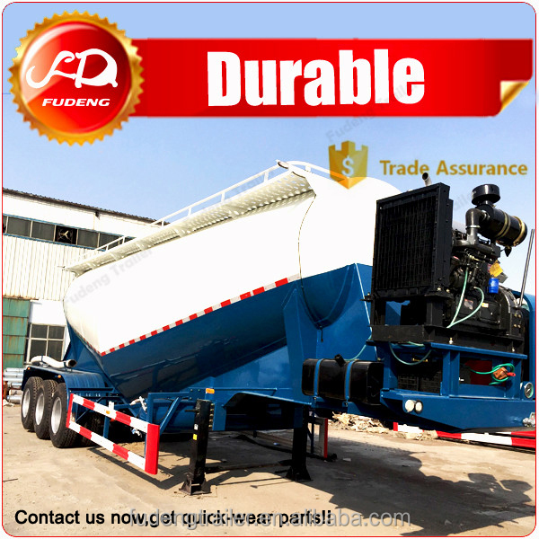 V shape dry bulk powder tank truck , 3 axles cement tanker for sale