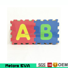 Melors Branded creative Educational EVA solid color jigsaw puzzle game/floor mat, non-toxic baby play mat, anti-fatigue play mat