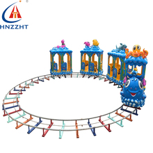 Lovely design and bright colorful kids electric train for kid's park with different shapes
