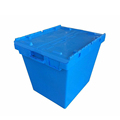 Stacking loading 225kg plastic containers logistic tote box with hinged lids