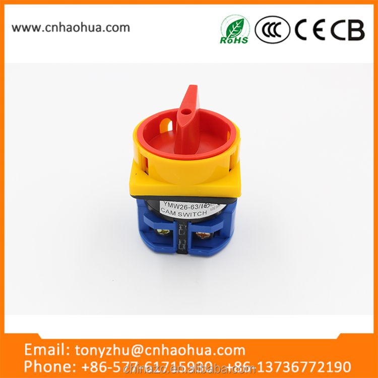 LW26GS series 63A low cost high quality select rotary switch