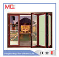 Exterior aluminum folding glass doors for balcony