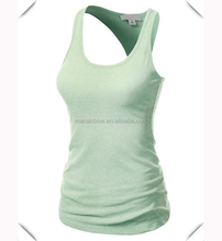 wholesale custom Womens sexy Basic Ribbed Cotton Spandex Racer Back Tank Top