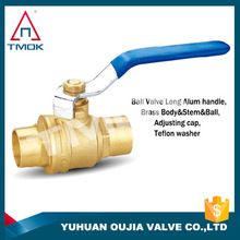 TMOK supplier brass gas ball valve manufacture in China brass ball inside PTFE seat with Hpb57-3 material with CE cetificate