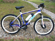 High performance electric mountain bicycle with sport style handlebar