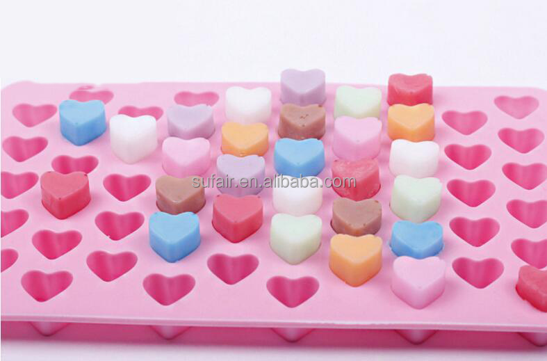 Heart Shaped Bake Brownie Dessert Pan Candy Chocolate Silicone Mini Cake Baking Mold