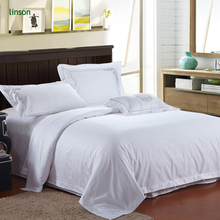 Pure White Cotton Embroidery Hotel Bedding Set/4pcs Quantity King Size Hotel Bed Duvet Cover Set
