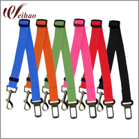 Quick Release Nylon Pet Dog & Cat Adjustable Car Safety Belt Collar Environmental Protection Leads Accessories Suppliers