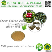 Anti-oxidant green coffee bean extract 10% chlorogenic acid with competitive price