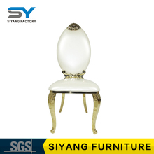 Wedding furniture white banquet chair modern king throne chair leather dining chair for sale CY054
