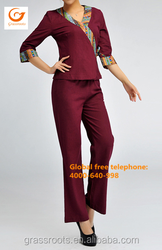 2015 high quality hot sell newest design thai spa uniform / hotel spa uniform