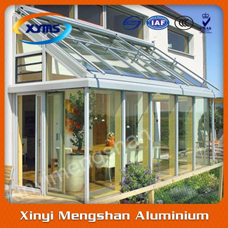 heat insulated aluminum profile screen glass cabinet sun room balcony room