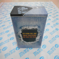 rectangular tin box like men jeans for packing