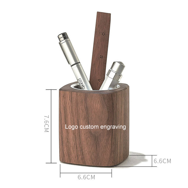 Accept OEM Office Wooden Pen Holder Container
