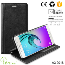 Cell Phone Credit Card Holder Wallet Leather Case For Samsung A3 2016