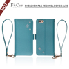 fair lady series new design leather cover case for iphone 6s with card holder stand function