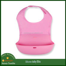 2017 hot selling soft waterproof nylon silicone bib for babies
