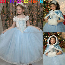 frozen elsa popular dress wholesale children girl waistcoat and dress for Christmas party dance dream clothing