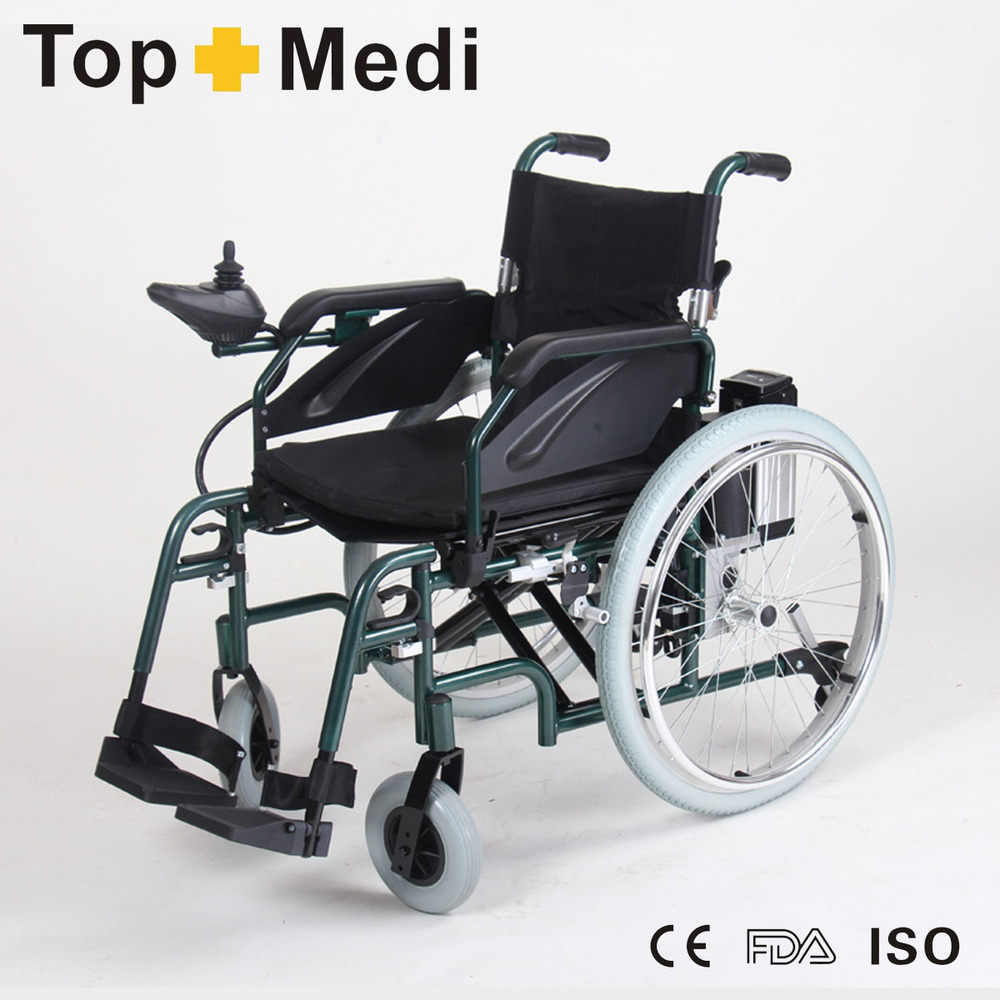 Rehabilitation Therapy Supplies TOPMEDI High-grade new style durable aluminum folding electric power E Power Wheelchair