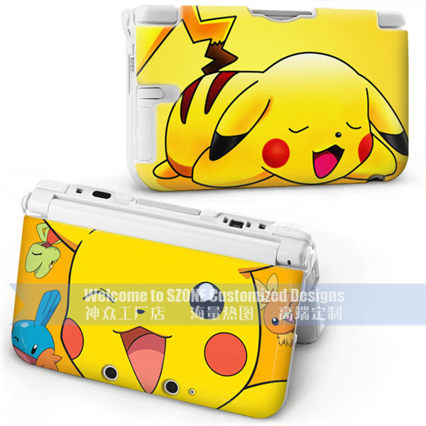 2016 cartoon design for pokemon go for new nintendo 3DS xl 3 cover hard cover case