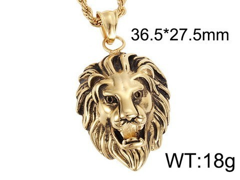 Lion Head Gold Men Pendant High Quality Stainless Steel Pendant
