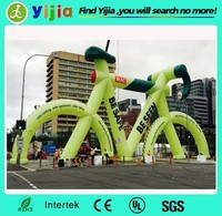 inflatable arch for bike race,advertising inflatable bike