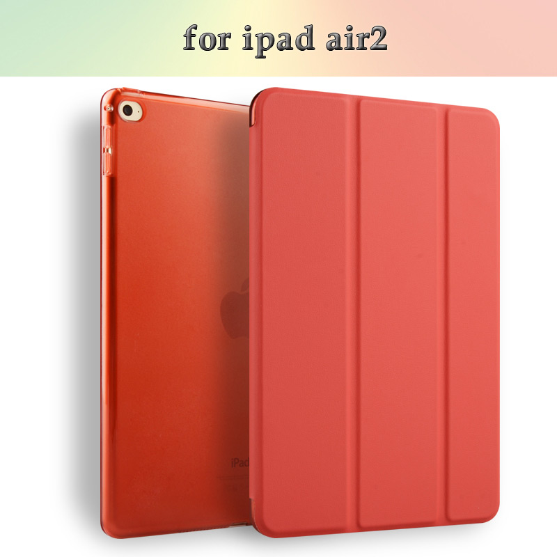 10''Folding protective Smart Cover Leather tablet pc case for Ipad air2/Ipad 6