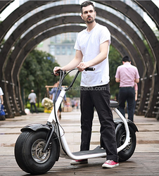 800W Brushless Adult Electric city Scooter, 2 Wheels Electric Motorcycle, Harley style scooter with Aluminum Rims