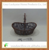 Antique Small Egg Gift Basket Wholesale With Long Handle