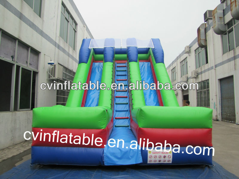 Good price 18ft inflatable slide,lake inflatable water slide as park game