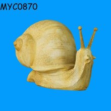 Resin hand carving land snails