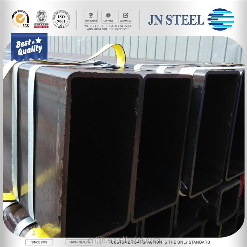 Black steel ornamental rectangular&square steel pipe/tubes with ISO certification for construction