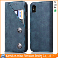 Pu Leather Card Slot Shock Absorbent Armor Case for iPhone 8