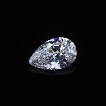 Wholesale Cubic Zirconia Pear Shape White Color 6x9mm Synthetic Loose Gemstone