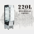 220L Supermarket Drink Display Refrigerator Beverage Yogurt Freezer Cooler with CE UL RoHS ETL